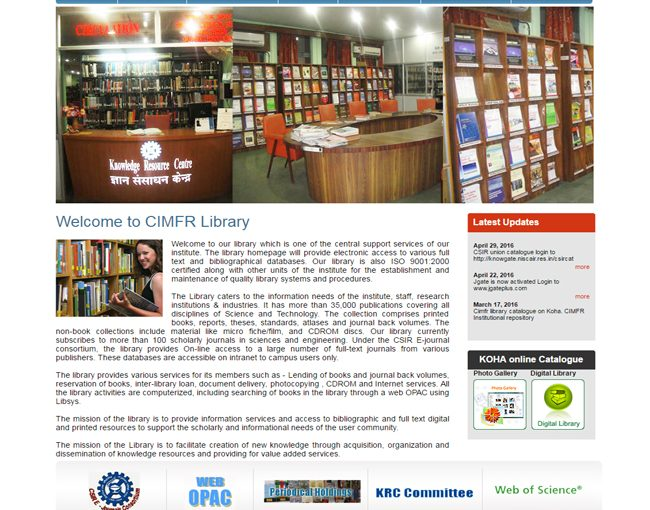 CIMFR Library